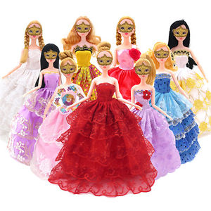 Fashion Handmade Dress Lace Clothes For 11'' Barbie Dolls Party Random Gift New