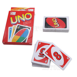 Standard 108 PCs UNO Playing Cards Game For Family Friend Travel Instruction Fun