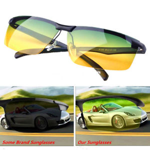 Cool Driving Anti-Glare Sunglasses UV Polarized Sport Day/Night Vision Glasses