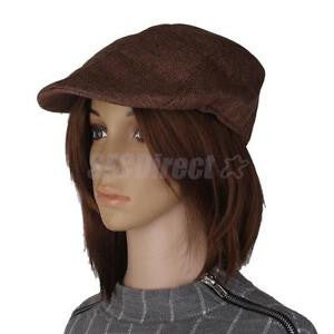 Alcoa Prime Mens Flat Cap Baker Boy Hat Peaked NewsBoy Country Farmer Beret Hats Brown