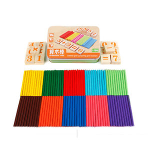 Kids Wooden Toys Digital Counting Number Cards Counting Rods Intelligence Toys