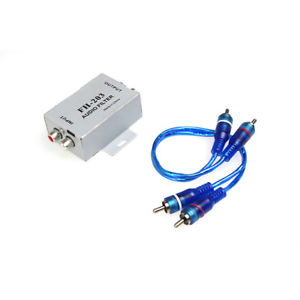 Car Stereo Audio Amplifier Noise Suppressor RCA Ground Loop Isolator Filter