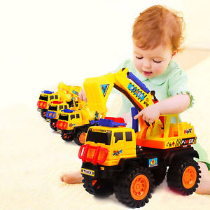 Car Vehicle Toy Playset Excavator Mixer Dump Truck Bulldozer Digger Construction