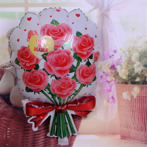 5PCS roses balloon birthday party Toys cartoon Wedding marry foil balloons 2018