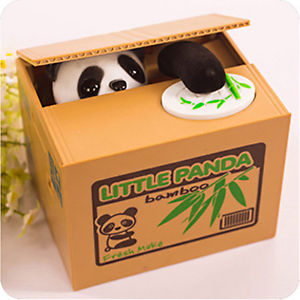 Alcoa Prime Panda Itazura Stealing Coin Bank Kitty Kids Toy Child Gift Electronic Pet