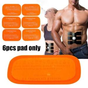 Best 6PCS Replacement Gel Sheet Pad for Muscle Training Gear ABS Body Fitness F5