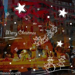 1PC BD Removable Christmas Stickers Window Of The Living Room Home Party Decor