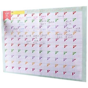 3 Sheets Plan Paper 100 Days Countdown Schedule Wall Calendars Daily Weekly N2G9