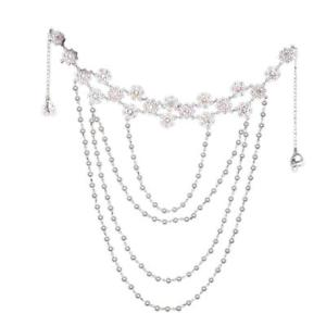 Alcoa Prime Wedding Bridal Pearl Bra Strap Shoulder Halter Necklace Pair Jewelry Woman,PRO