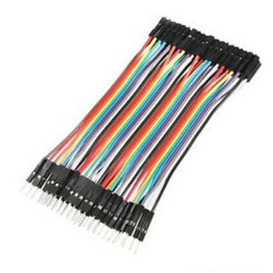 40pcs Dupont 10CM Male To Female Jumper Wire Ribbon Cable Arduino pin header fp