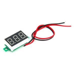 1pc Mini LED 3-Digital Display Voltage ammeter DC Voltmeter Panel Motor Meter