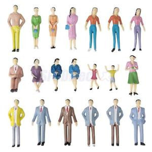 Alcoa Prime 50 Mixed Well Suited People Passengers Figures Model Train Railway Diorama 1:30