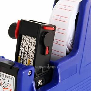 MX-5500 8 Digits EOS Price Tag Gun +500 White w/ Red Lines Labels + 1Ink
