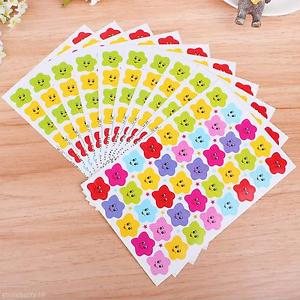 10sheets New Colorful Stars Smile Kids Child School Task Reward Stickers Decals
