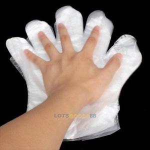 100 Disposable PE Garden Home Restaurant BBQ Plastic Multifuction Gloves LS4G