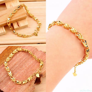 Alcoa Prime Elegant Plating 24K Gold Angel Heart Bangle Bracelet Jewelry for Women Lady