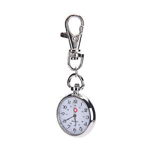 stainless steel Quartz Pocket Watch Cute Key Ring Chain Gift bien