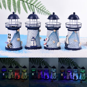 LED light metal lighthouse anchor mediterranean decorative home nautical decorEF