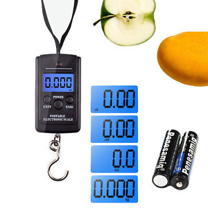 40Kg/10g Portable Digital Pocket Hanging Luggage Electronic Scale Kitchen Tool