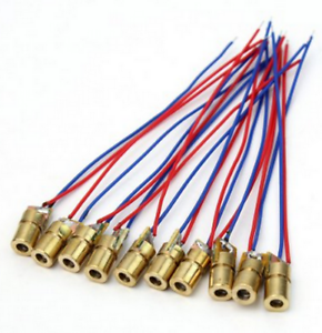 10 Pcs 650nm 6mm 3.3V 5mW Red Laser Dot Diode Module Copper Head for Arduino
