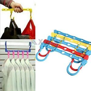 Alcoa Prime 5pcs Magic Hangers Hook Closet Space Clothes Organize Organizer Saver Storage