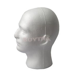 Male Styrofoam Mannequin Manikin Head Model Foam Wig Hair Glasses Display scw