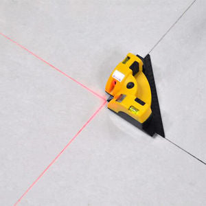 Vertical Horizontal Laser Line Projection Square Level Right Angle 90 Degree QW