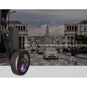 Universal 168° Wide Angle Lens Clip-on Camera Lens w/ Case for Phone Tablet