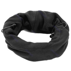 6 in 1 Unisex Black Fleece scarf Hood Balaclava Neck Winter warmer Face Mask