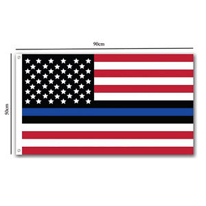 Alcoa Prime Thin Blue Line American Flag Police Lives 3x5 Foot Metal Grommets Quality Free