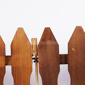 4pc DIY Wood Picket Fence Garden House Christmas Xmas Tree Party Decoration
