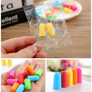 10 Pairs Soft Foam Ear Plugs Tapered Sleep Noise Prevention Earplugs