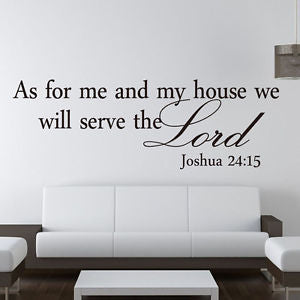 Alcoa Prime Christian As for me and my house we will serve the Lord English Wall Stickers