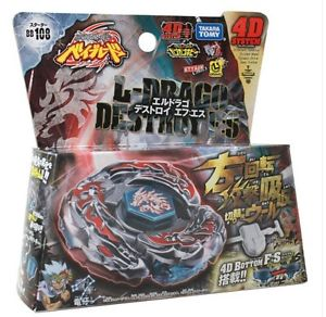 Japanese Beyblade BB108 L Drago Destroy Destructor F:S With Launcher