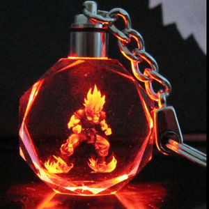Alcoa Prime Dragon Ball Dragonball Z Son Saiyajin Goku Crystal Key Chain LED light Pendant F