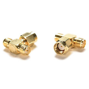 Triple 1M2F Adapter RP.SMA jack male to 2 RP-SMA plug female T RF connector TB