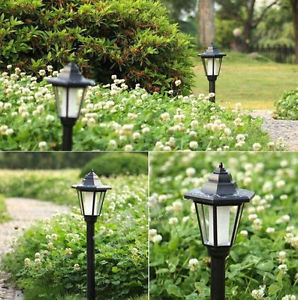 Alcoa Prime Auto Outdoor Garden LED Solar Power Path  Cited Lights Landscape Lamp Post Lawn
