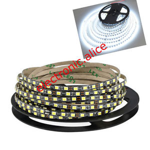 Alcoa Prime 5M 2835 SMD 600Leds cool white Flexible LED Strip 12V Black PCB waterproof IP65