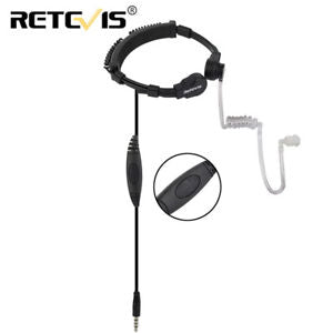 Alcoa Prime Retevis R-151 1Pin 3.5mm Throat Mic Earpiece PTT Covert Air Tube for Cell Phone