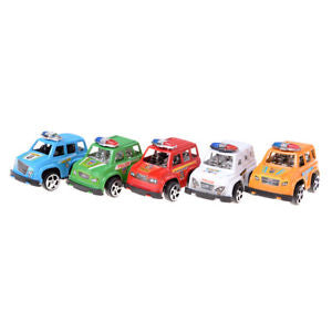 2pcs Plastic Pull Back Diecasts Toy Vehicles Cars Children Toys Gift Police CarW