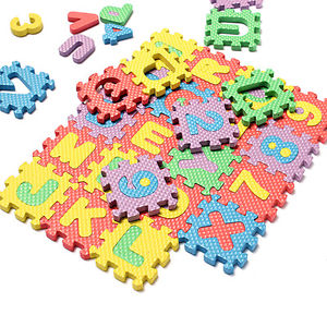 36pcs Soft Foam Baby Children Kids Play Mat Alphabet Number Puzzle Jigsaw Tb