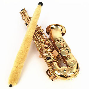 Alto Saxophone Cleaning Brush Yellow Musical Accessories Soft Saver Pad