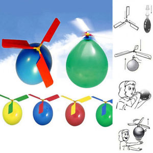 Outdoor Child Balloon Copter Plane Helicopter Flying Aircraft Game Toys Refined