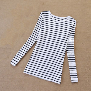 Casual Pregnant Women Cotton Striped Maternity Tops Blouse Long Sleeve Shirt Set