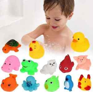 Alcoa Prime 13 Different Squeaky Floating Animals/Ocean Rubber Baby Bath Toy Children Kid hs