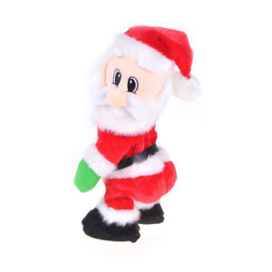 Christmas Electric Twerk Santa Claus Toy Music Dancing Doll Xmas Gift Decor GS