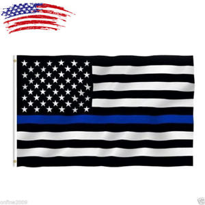 Alcoa Prime Thin Blue Line American Flag 3x5 ft US Black & White Police Policemen Support US