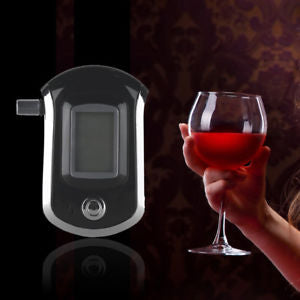 Alcoa Prime Digital Breath Detector Alcohol Tester LCD Screen Breathalyzer Analyzer Noted