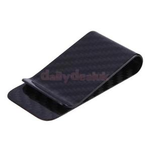 Alcoa Prime Carbon Fiber Money Clip Matte Black Credit Card Holder Money Wallet Peachy