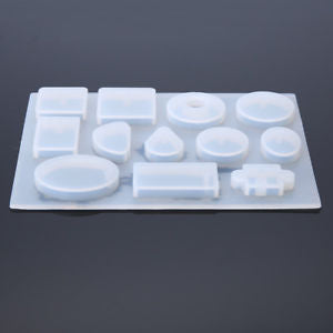 Alcoa Prime 12 Designs Silicone Mold Mould For Epoxy Resin Jewelry Making DIY Craft Tool